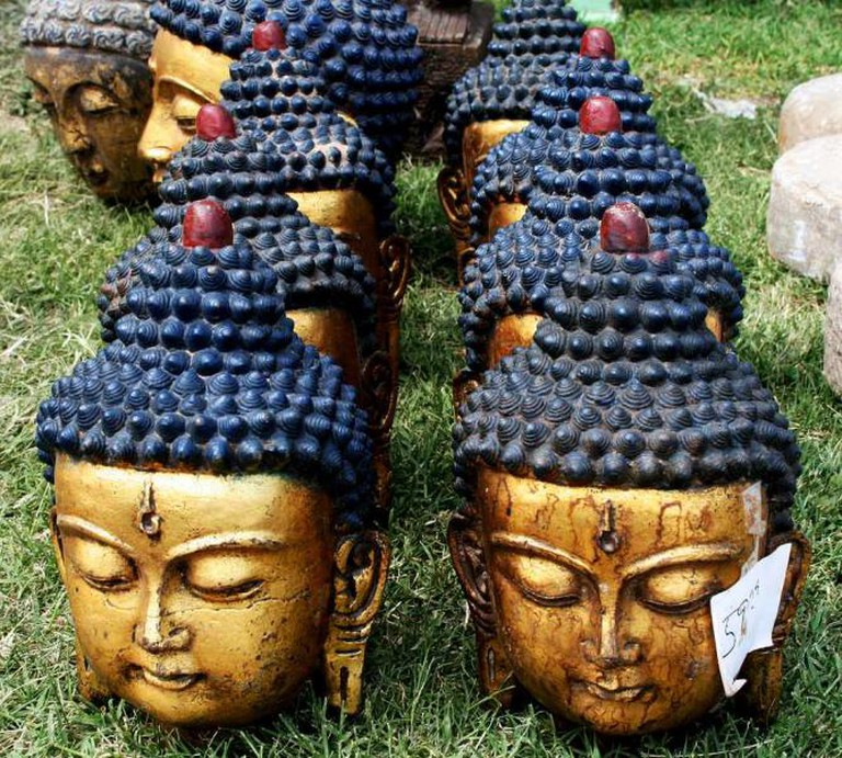 Buddha heads at Memphis Flea Market, 'The Big One'