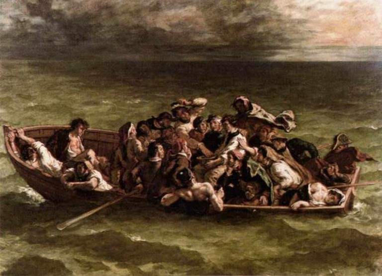 Shipwreck of Don Juan | ©Eugène Delacroix/WikiCommons