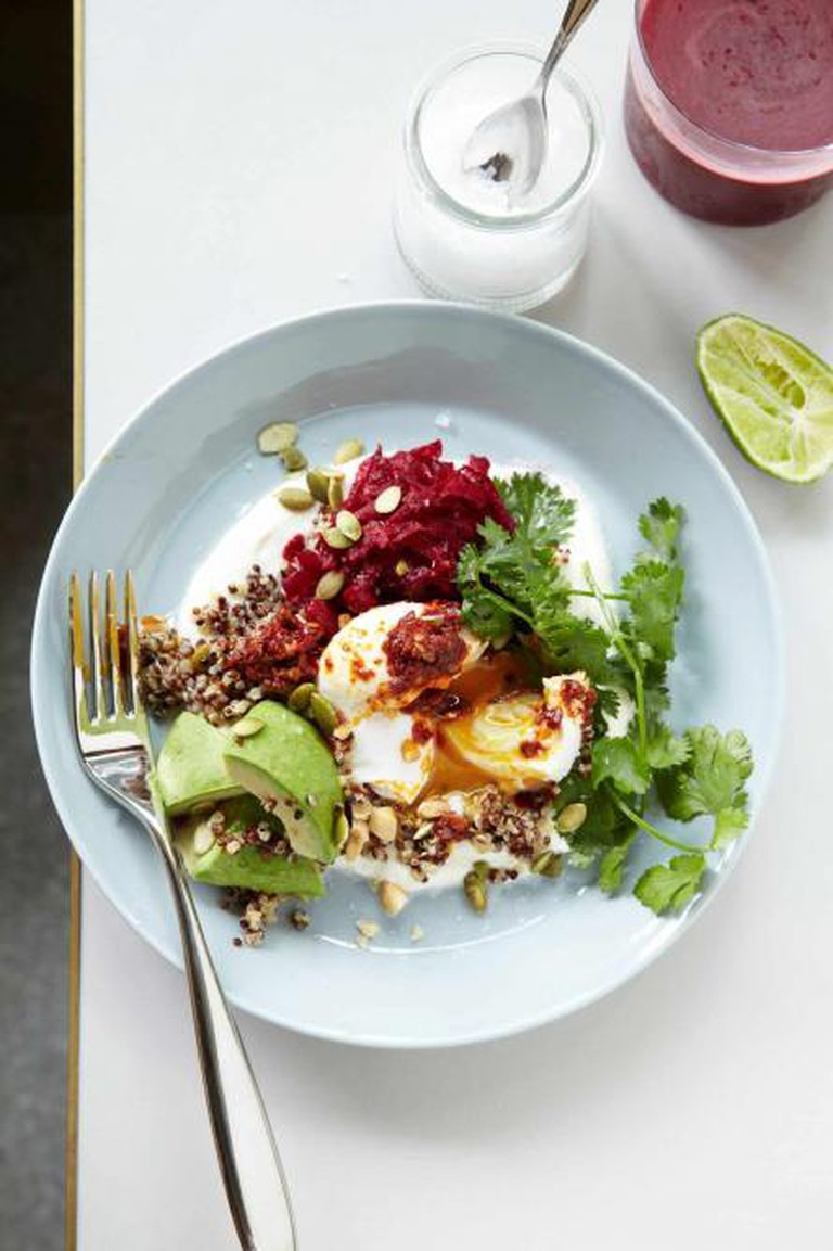 Buckwheat bowl with poached egg