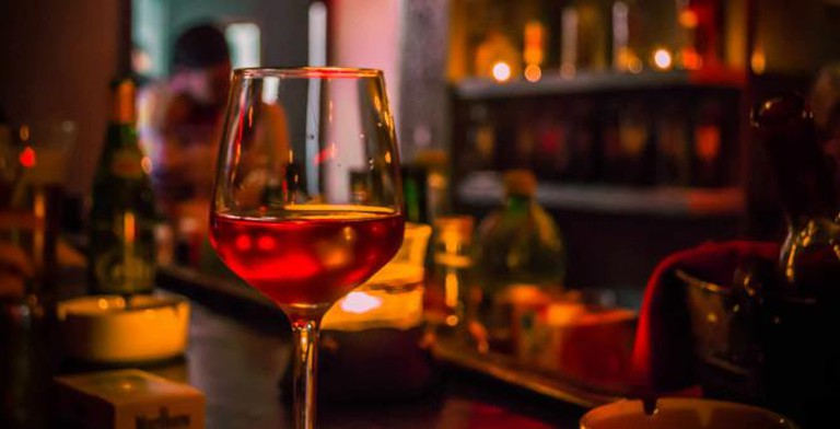 A glass of wine like the ones served at Baltimore's finest wine bars.
