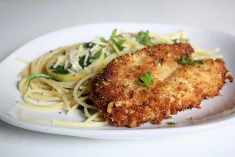 Parmesan Crusted Chicken Picatta | © alanagkelly/Flickr
