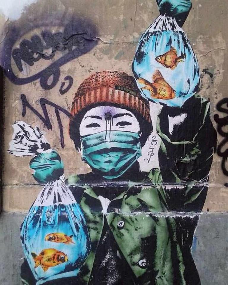Street art at Les Halles street