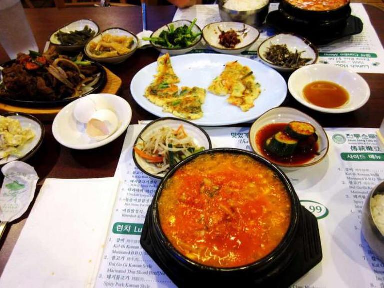 Jeun Tong Banchan Tofu | ©Samantha Celera/Flickr