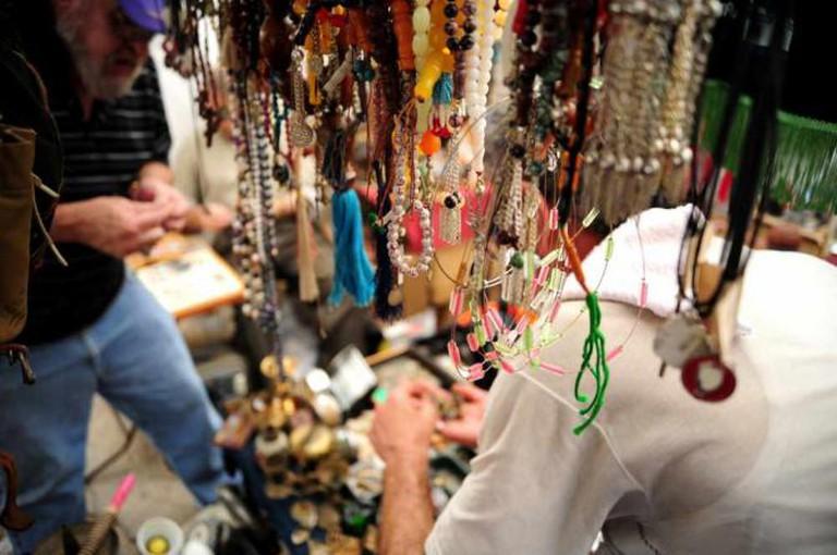 Beads vendors at Sunday Market, Beirut
