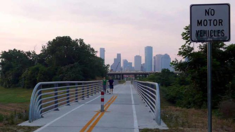 Houston at Dawn from The Heights Trail