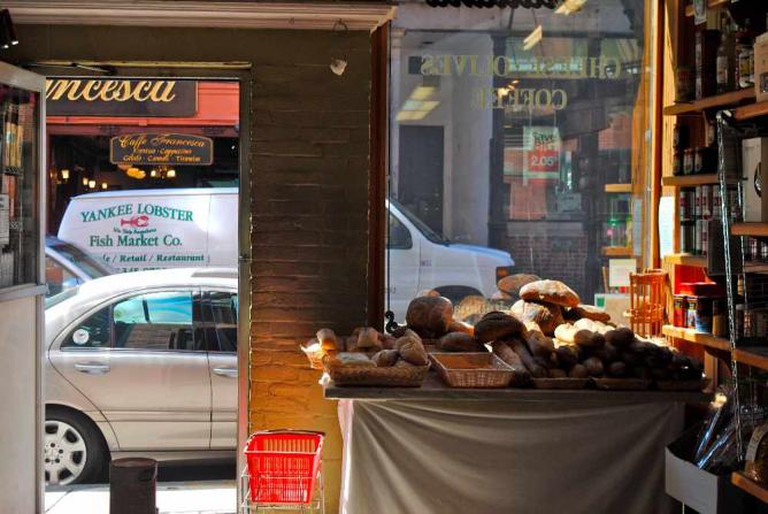 Window View from Inside Salumeria Italiana | © Alyssa Erspamer