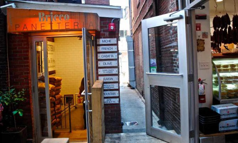 Entrances to Bricco Panetteria and Bricco Salumeria | © Alyssa Erspamer