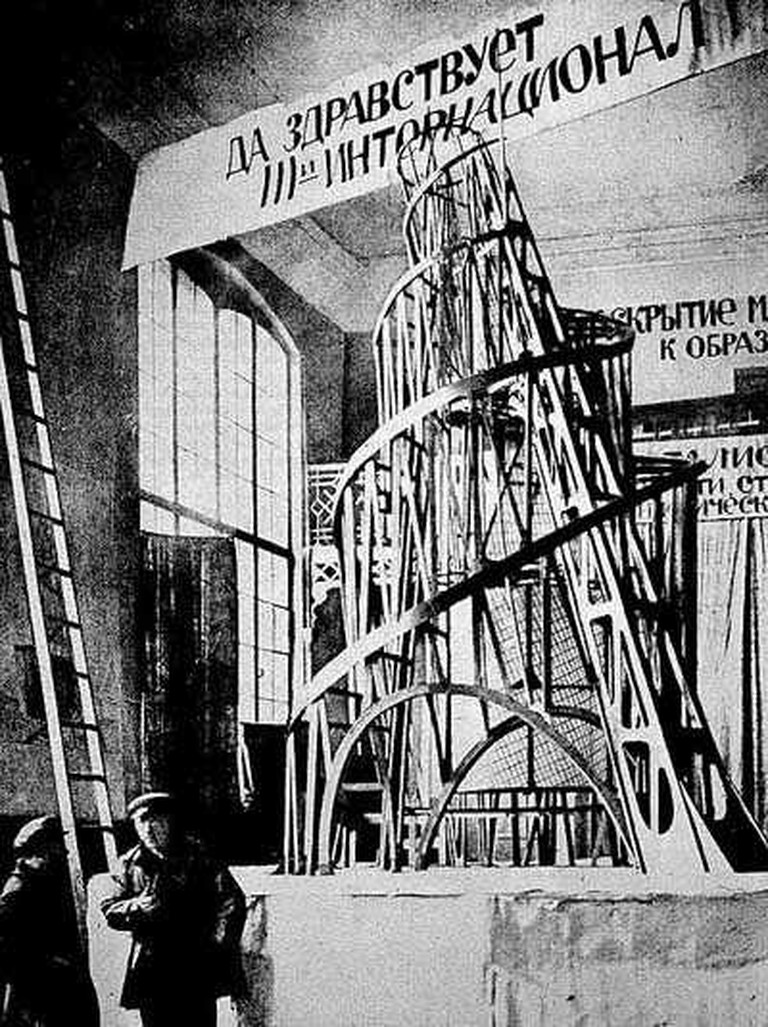 Vladimir Tatlin, The Monument to the Third International, 1919 | © WikiCommons