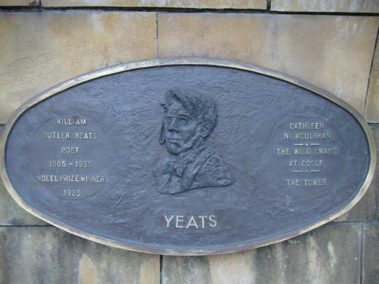 Yeats Plaque in St Patrick's Park, Dublin