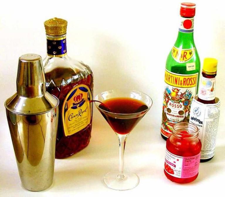 A classic Manhattan cocktail