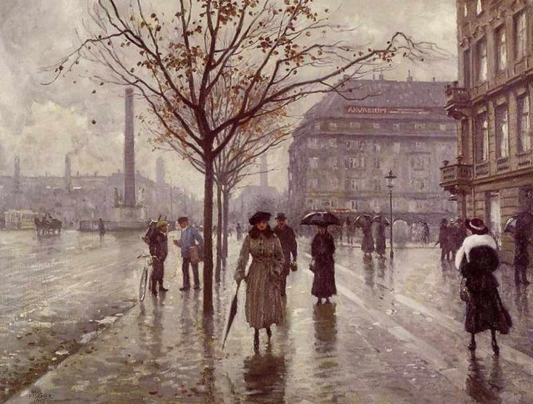 Curfew is near Vesterbrogade, here painted by Paul Fischer