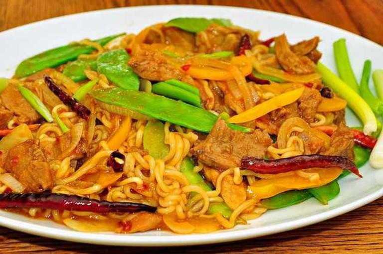 Mmm... spicy pork noodles | © jeffreyw/Flickr