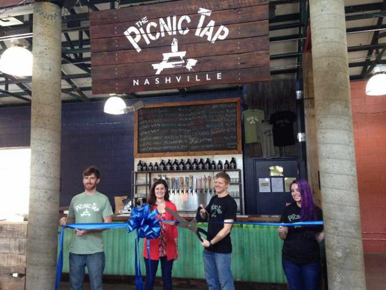 Opening of the Picnic Tap at the Nashville Farmers Market