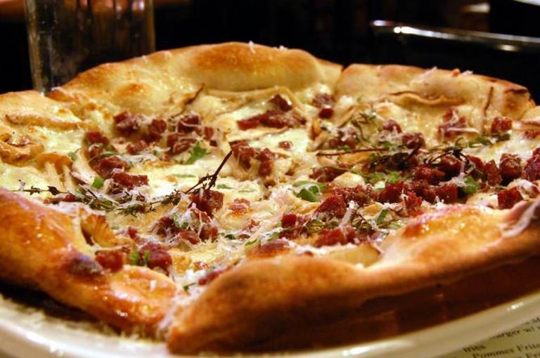 Wild Boar Salami and Shitake Mushroom Pizza