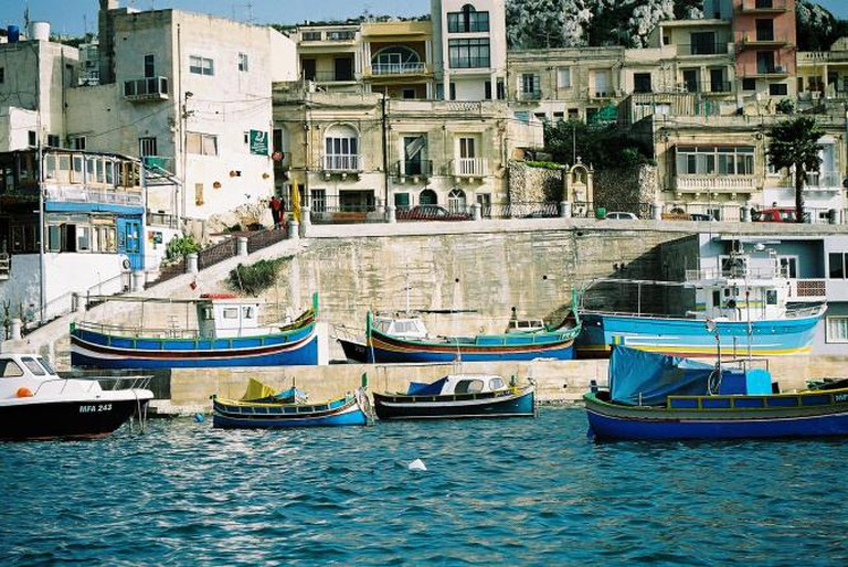 Boats at Mellieha, Malta