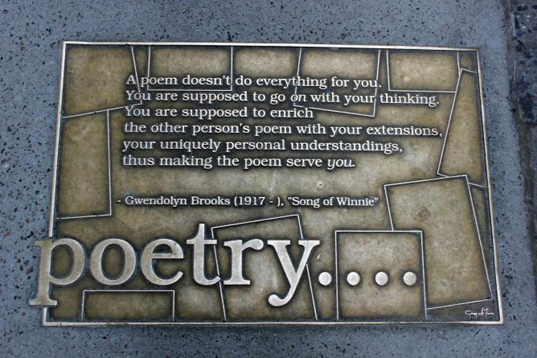 Gwendolyn Brooks poetry plaque | © Lesekreis/WikiCommons