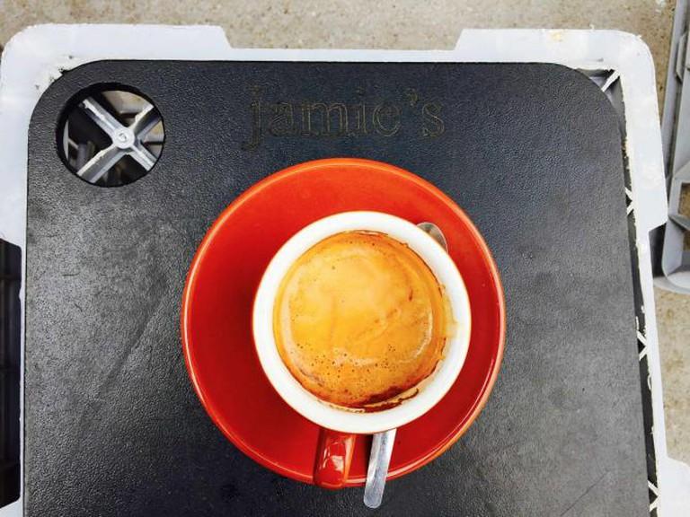 Long black from Jamie's Espresso | © Mona Mizi