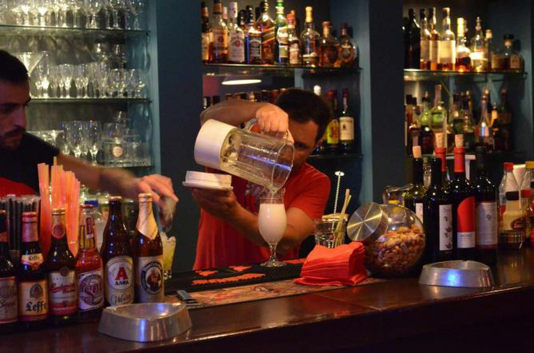 Bartenders in action