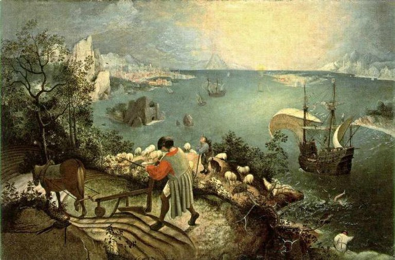 Pieter Breugel The Elder, Landscape with the Fall of Icarus
