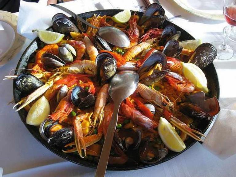 Seafood Paella © Pilecka/WikiCommons