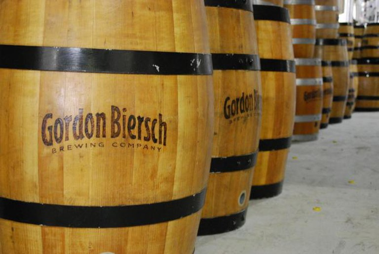 Barrels | Courtesy of Gordon Biersch Brewing Company
