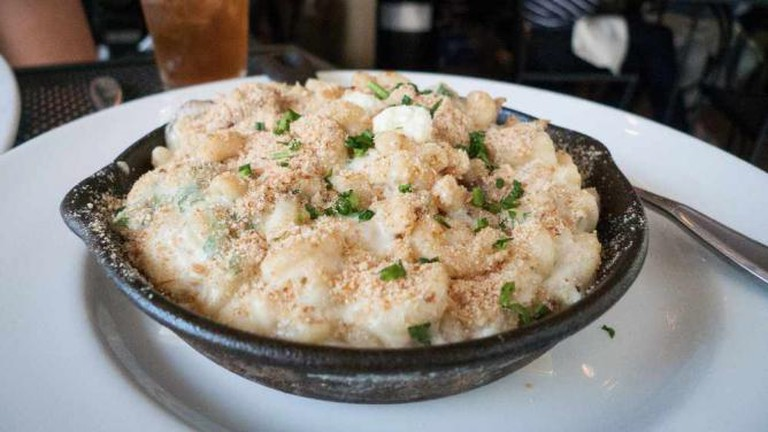 Macaroni & cheese with duck confit