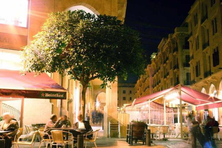 Cafes in downtown Beirut