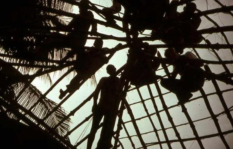 Senegal hut roof silhouette | © Bill Clabby