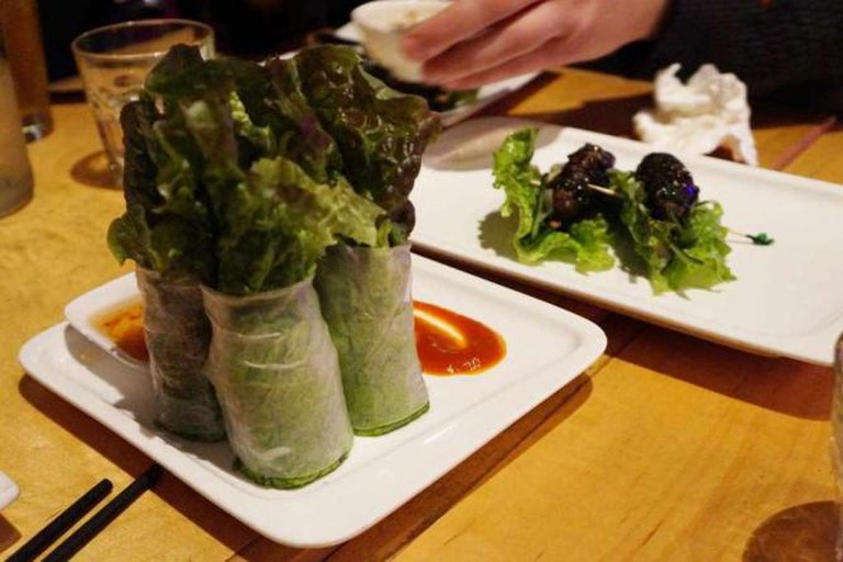 Fresh Spring Rolls and Bo La Lot| © Phuong Pham