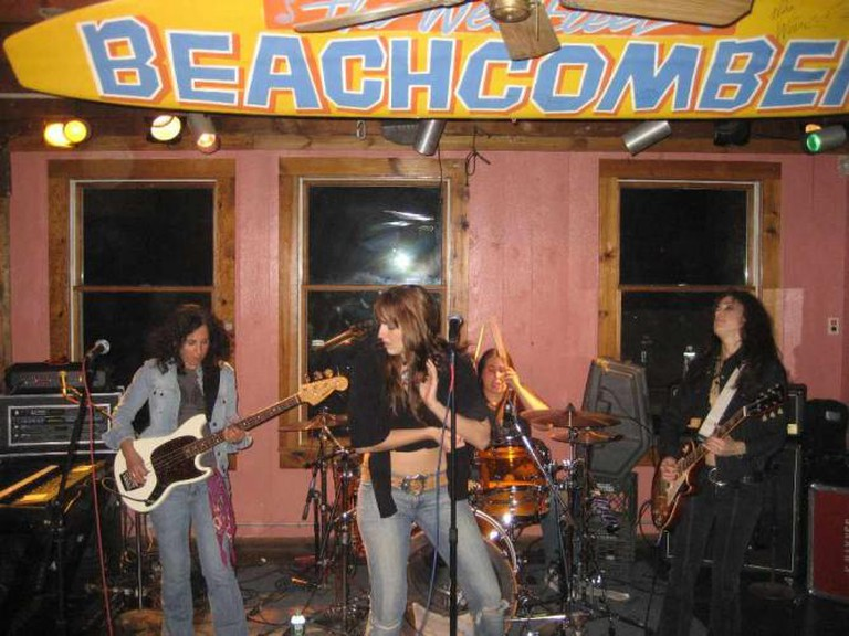 A Band plays at the Beachcomber