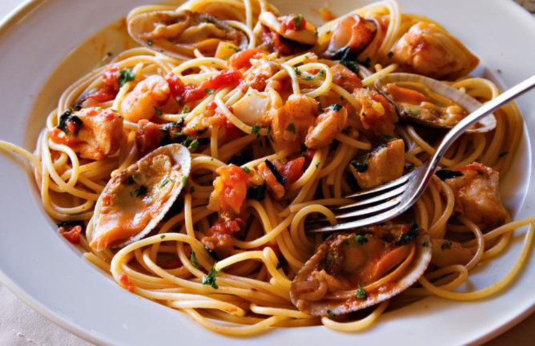Seafood spaghetti | © Benjie Ordoñez/Flickr