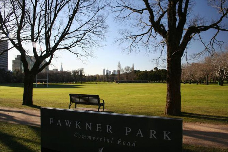 Fawkner Park, South Yarra (with the central business district in the background)