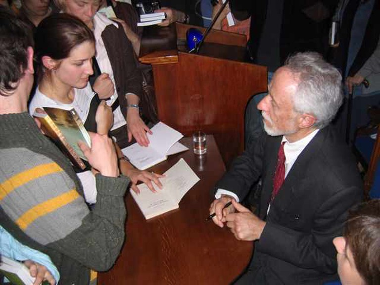 J. M. Coetzee with his audience in Cracow (Jagiellonian University)
