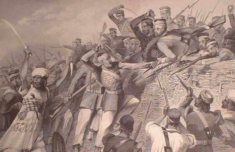 Attack of the Mutineers on the Redan Battery at Lucknow, July 30th, 1857