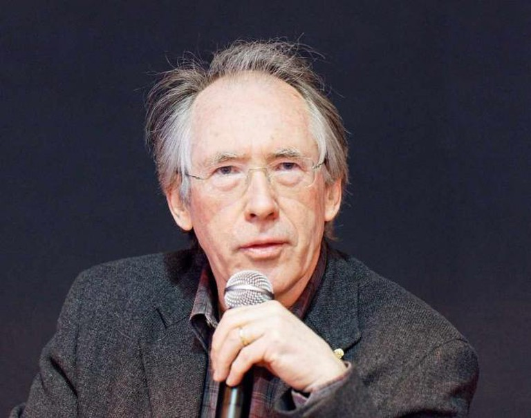 Ian McEwan, a british writer, photographed during the 2011 Paris book festival.