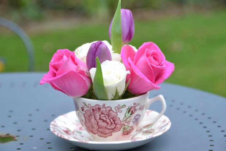 Flowers in a cup