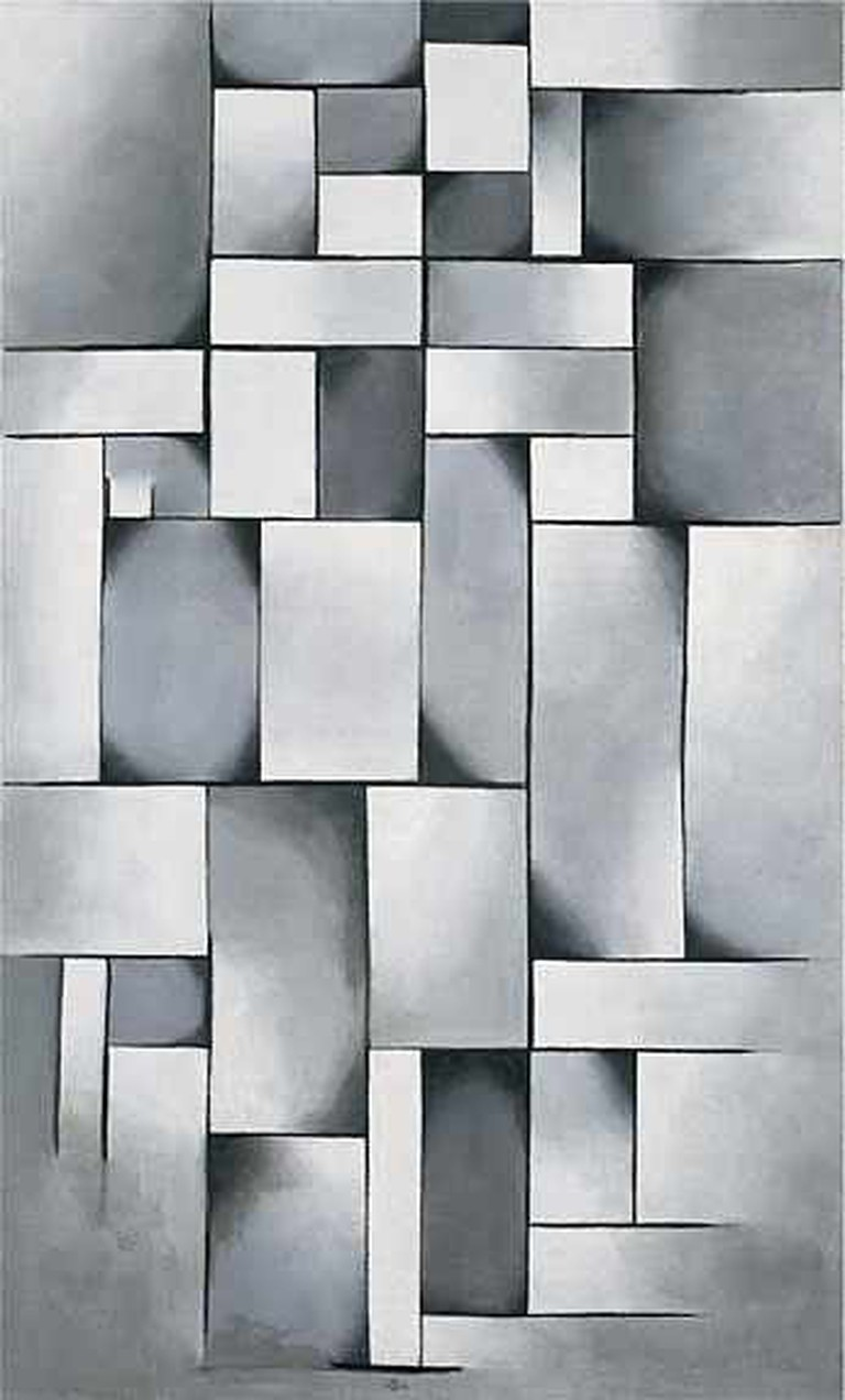 Theo van Doesburg Composition in Gray | © Guggenheim/WikiCommons
