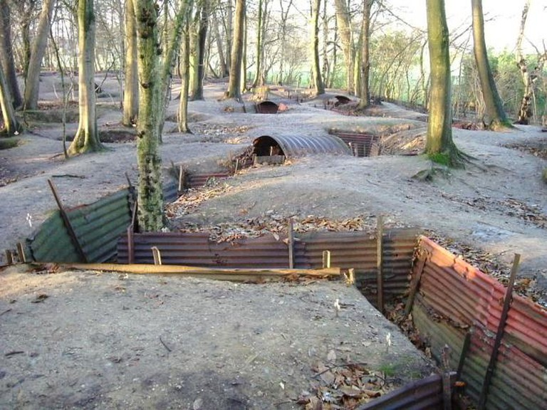Hill 62 Museum Trenches in Ypres, Belgium