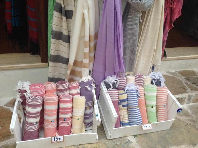 Turkish towels for sale, Kaş