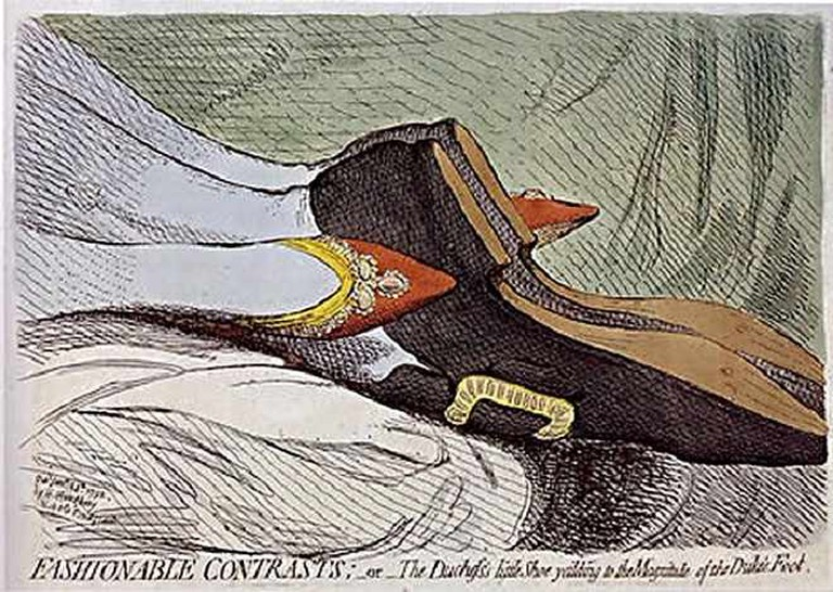 Fashionable Contrasts © James Gillray via Wikimedia Commons