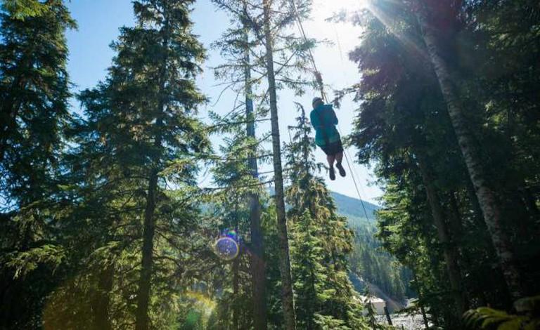 Ziplining © Mike Crane/Tourism Whistler