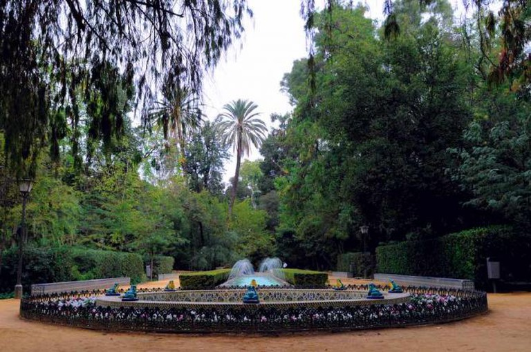 maria luisa park fountain
