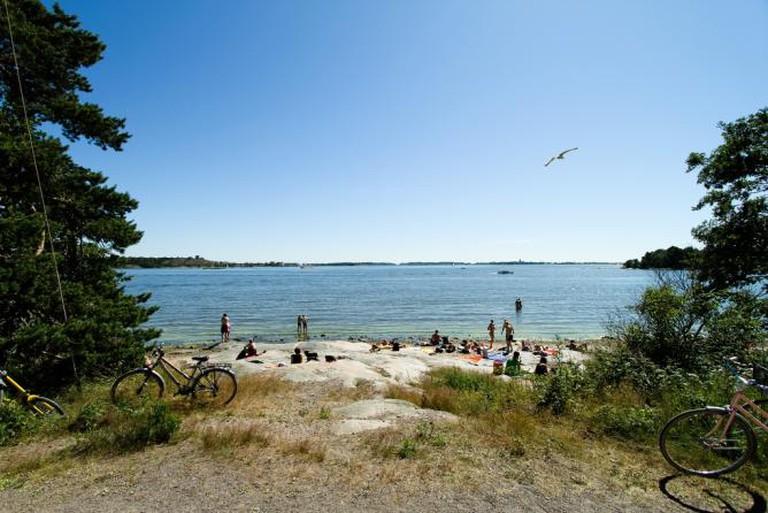 The seaside at Mustikkamaa