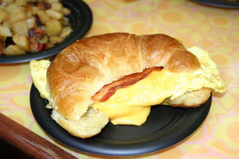 EPCOT Sunshine Seasons Breakfast Croissant | © Edward Russell