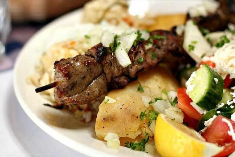 lamb souvlakia | ©  Geoff Peters/Flickr