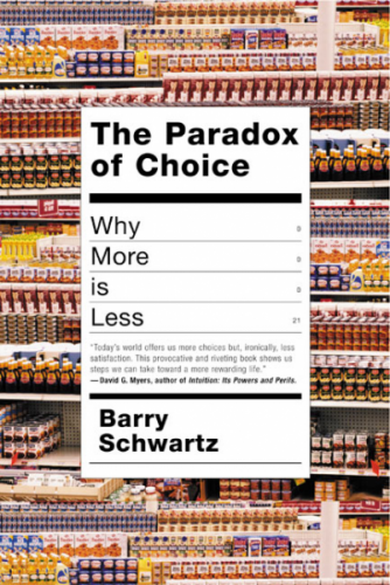 The Paradox of Choice by Barry Schwartz | © Harper Collins Publisher