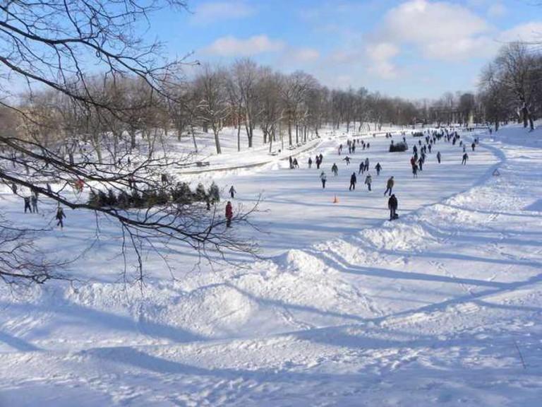 Hockey in winter in Montreal   ©canalblog.com