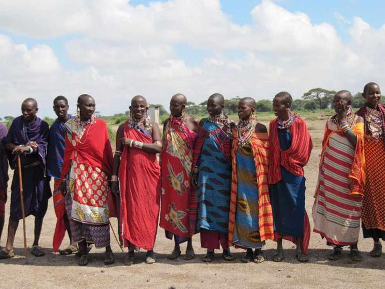 Maasai people in Amboseli National Park, Kenya | © Daryona/WikiCommons