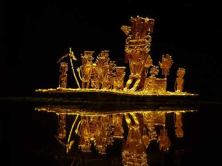The Muisca Raft at the Gold Museum