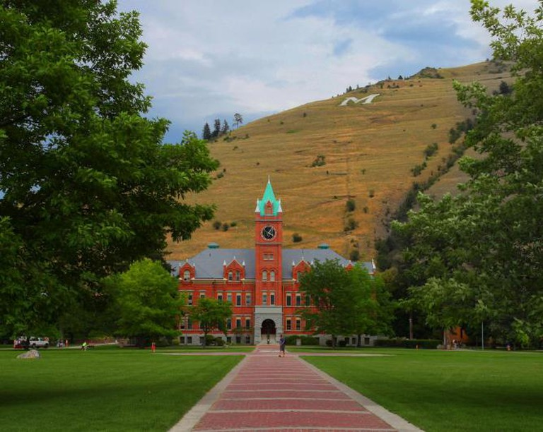 University of Montana with Mount Sentinel in the background